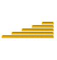 measure tape ruler metric measurement metric vector image