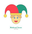 medieval colorful logo emblem template flat style vector image