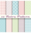 Pastel retro different seamless patterns tiling