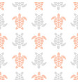 pattern with pink and gray turtles vector image