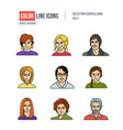 people collection business vector image