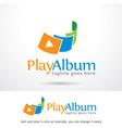 play logo template vector image