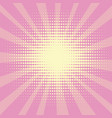 pop art background the rays of the sun of yellow vector image vector image
