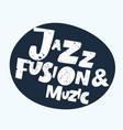 positive typographic jazz vector image vector image