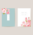 realistic wedding cherry floral invitation exotic vector image vector image