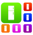 refrigerator set collection vector image vector image