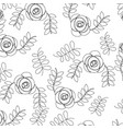 roses flower natural leaves decoration pattern vector image vector image