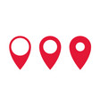 set gps pointers red point icon vector image