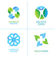 set of abstract logos and emblems vector image vector image