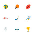 set of activity icons flat style symbols with ball vector image