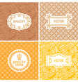set of seamless backgrounds with frames and labels vector image vector image