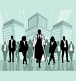 stylish business people vector image