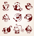 Tea elements set vector image vector image