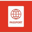 The passport icon Travel symbol Flat vector image