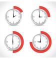 Timer set vector image vector image