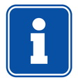 Tourist information sign vector image