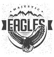 vintage majestic eagle label template vector image