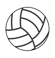 volleyball sport isolated icon vector image vector image