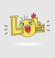 word symbol lol vector image