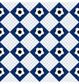 Football Ball Blue White Chess Board Diamond vector image