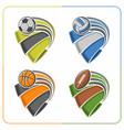 balls ribbons vector image