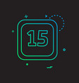 15 date calender icon design vector image vector image