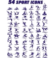 54 icons - sports in vector image vector image