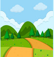 a simple nature view vector image vector image