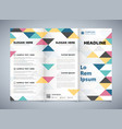 abstract colorful triangles pattern corporate of vector image