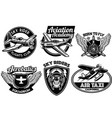 aviation badge set vector image vector image