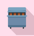 bakery factory icon flat style vector image vector image