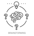 Brainstorming line infographic vector image vector image