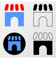 building eps icon with contour version vector image vector image