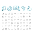 Business and infographic Icon set vector image vector image