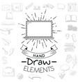 business hand draw cartoon vector image vector image
