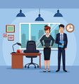 business people working in the office vector image vector image