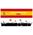 Cheering or Protesting Crowd Spain vector image vector image