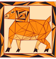 Chinese horoscope stylized stained glass ram vector image vector image