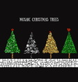 Christmas and New Year trees vector image