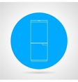 Circle icon for refrigerator vector image vector image