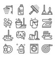 cleaning service icon set services for cleaning vector image vector image