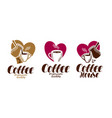 coffee coffeehouse label set cafe cafeteria vector image vector image