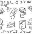 collection stock of music doodles vector image vector image