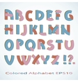 colored alphabet vector image vector image