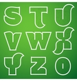 Connections Alphabet Font Set 3 S to Z vector image