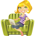 cute blond girl vector image vector image