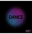 Dance beautiful design element for greeting card vector image vector image