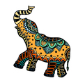decorated Indian Elephant vector image vector image