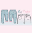 denim pants for a toddler girl vector image vector image