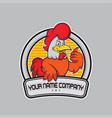 Design chicken logo delicious